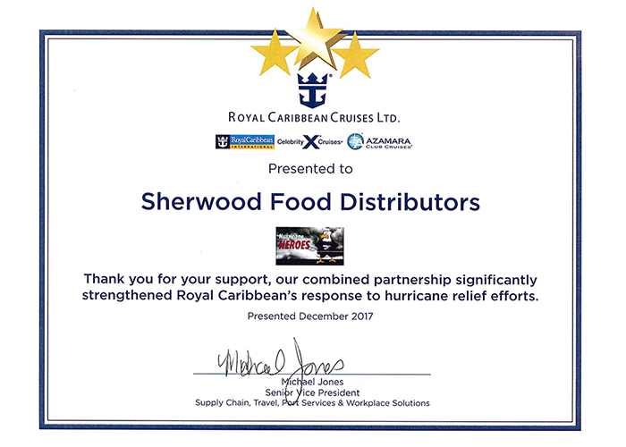 Sherwood Recognized For Hurricane Relief