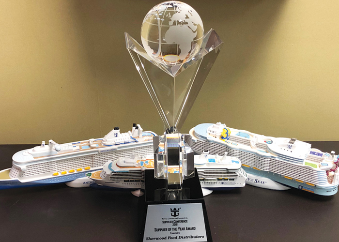 Sherwood Food Distributors Named Royal Caribbean Supplier Of The Year