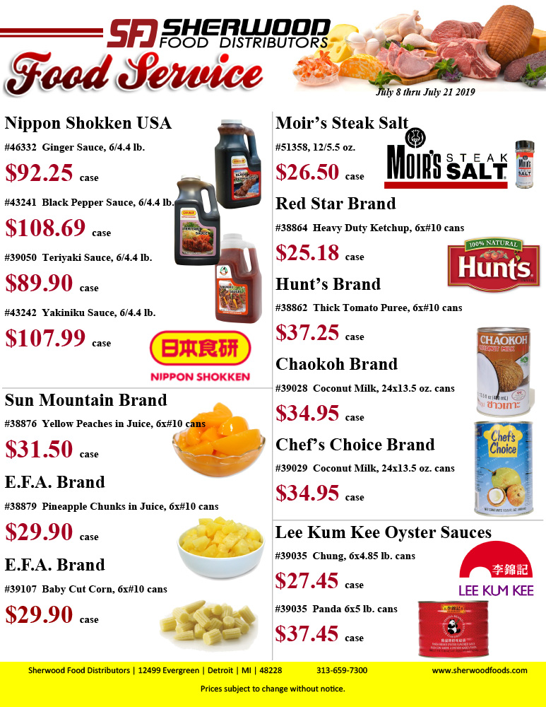 Detroit Sales Flyer - Sherwood Food Distributors